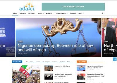 Adalci : Emerging Online News Portal in Nigeria