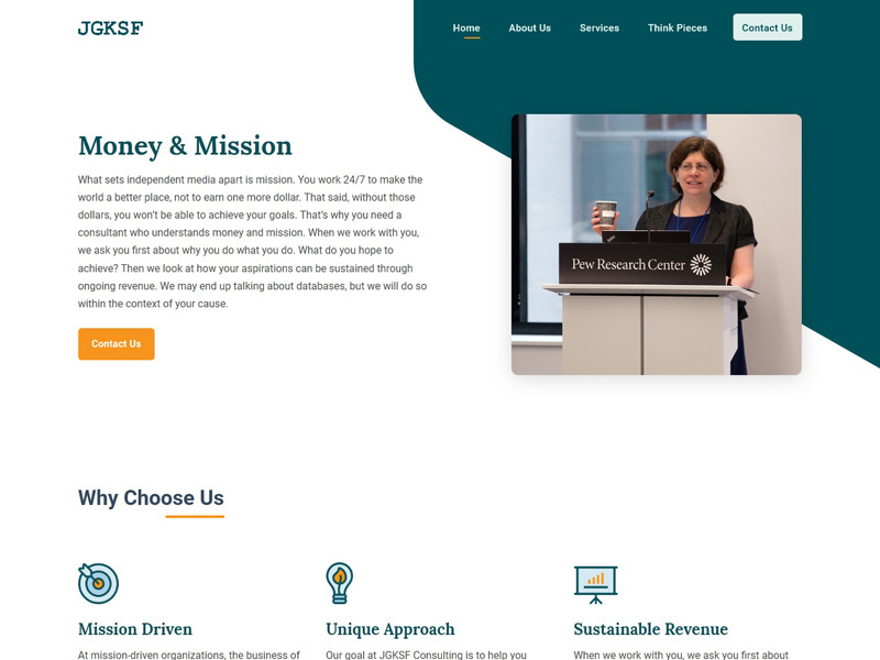JGKSF : Mission Driven Consulting Firm