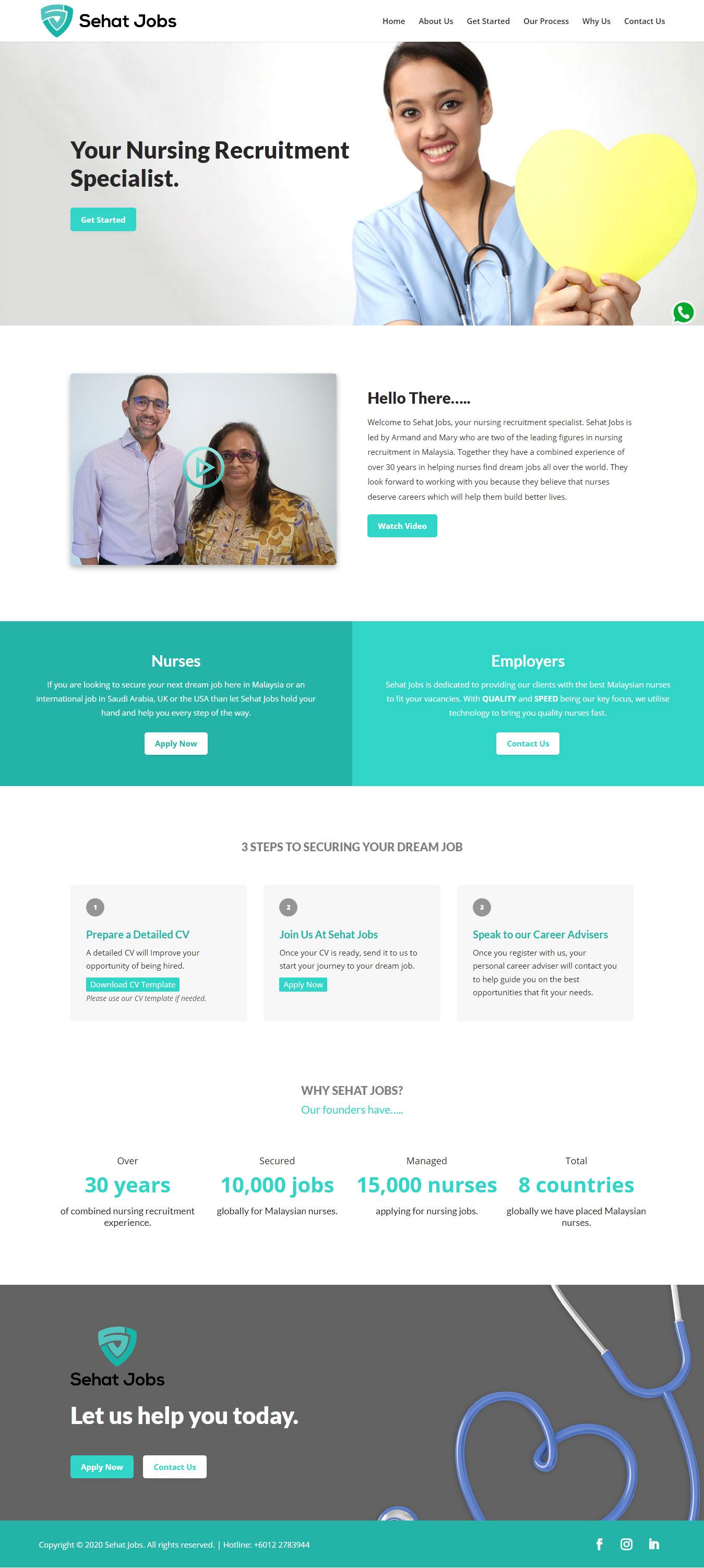 Sehat Jobs Website